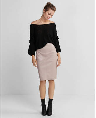 Express High Waisted (minus The) Leather Pencil Skirt $59.90 thestylecure.com