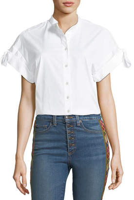 Veronica Beard Sanaa Button-Front Cotton Shirt