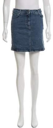 Burberry Denim Mini Skirt