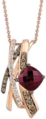 LeVian Le Vian 14K Rose Gold 3.40 Ct. Tw. Diamond & Rhodolite Necklace