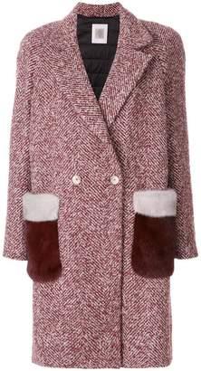 Eleventy appliqué pocket coat