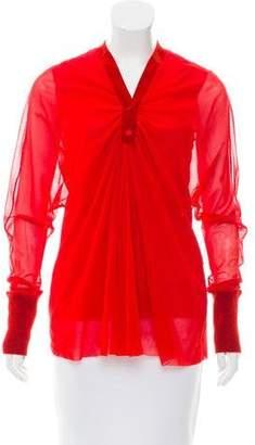 Jean Paul Gaultier Mesh Long Sleeve Top