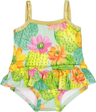 Masala Baby Cactus Flora Skirted One-Piece Swimsuit