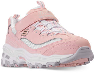 c68afaaaef41 Skechers Little Girls  D Lites - Crowd Appeal Adjustable Strap Athletic  Sneakers from Finish