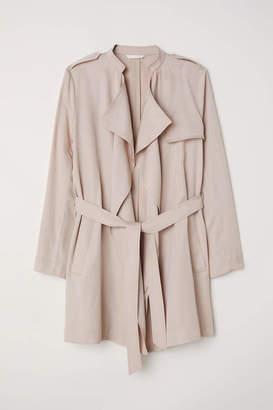 H&M Short Lyocell Trenchcoat - Light beige - Women