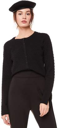 Juicy Couture Polka Dot Knit Jacquard Cardigan