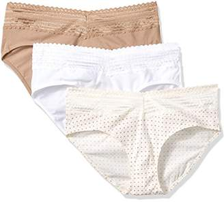 Warner's Women's Body Heaven Cotton Lace Hipster 3 Pack Panty