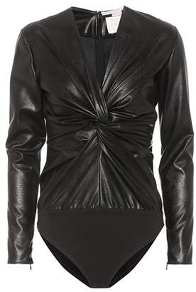 Stella McCartney Faux leather bodysuit