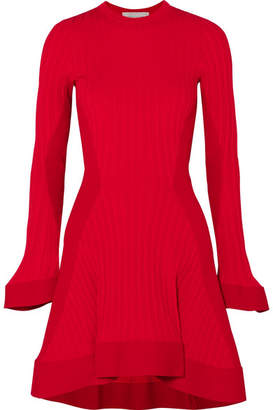 Esteban Cortazar Ribbed-knit Mini Dress