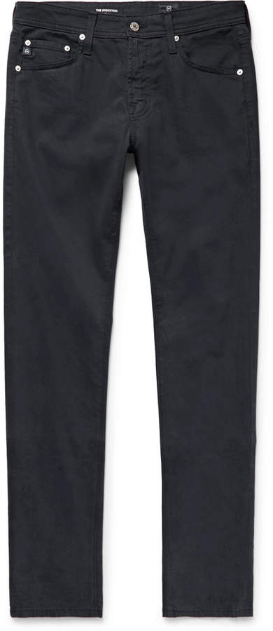 Stockton Skinny-Fit Brushed Stretch-Cotton Trousers