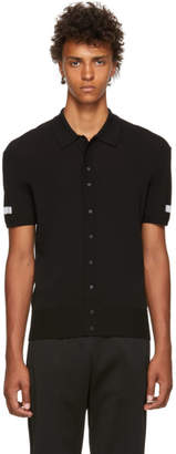 Neil Barrett Black Techno Yarn Polo