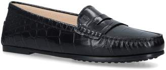 J.P Tods Croc-Embossed Gommino Driving Shoes