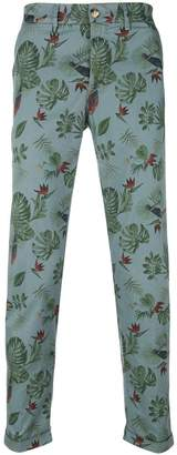 Jeckerson print fitted trousers
