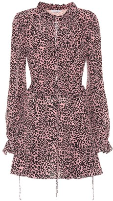 Les Rêveries Exclusive to Mytheresa Leopard-print crepe de chine minidress