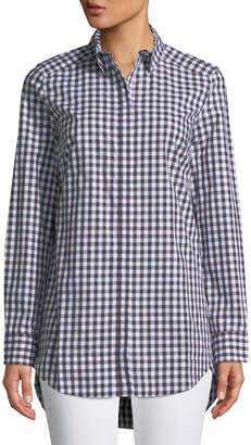 Tyler Boe Sherri Gingham Button-Front Tunic