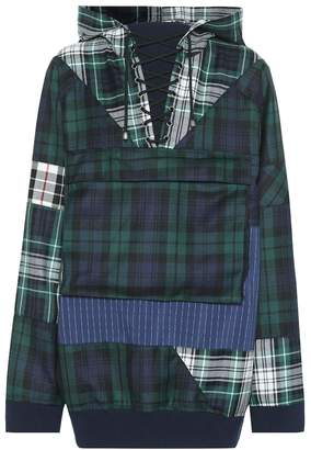 Rihanna Fenty By Oversized plaid wool hoodie