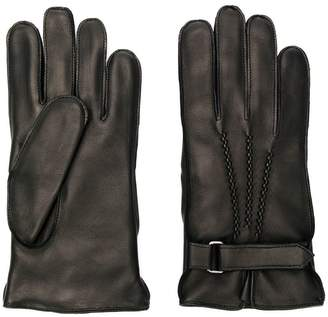 Orciani strap detail gloves