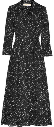 Diane von Furstenberg - Printed Cotton And Silk-blend Gauze Wrap Dress - Black $270 thestylecure.com