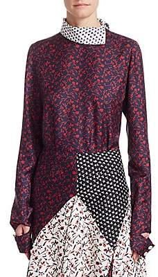Calvin Klein Women's Printed Silk Blouse