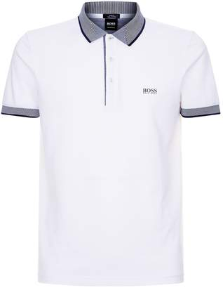 BOSS GREEN Paul Contrast Trim Polo Shirt