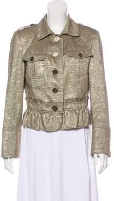 Burberry Metallic Tweed Jacket