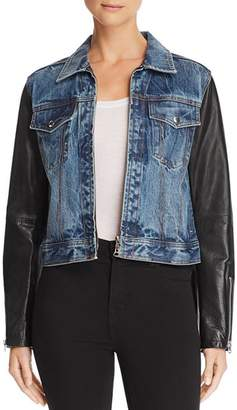 Rag & Bone Nico Denim & Leather Jacket