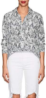 Womens Ryan Python-Print Silk Blouse L'agence Sale New Styles Discount Looking For Cheap Very Cheap vGjmIwf