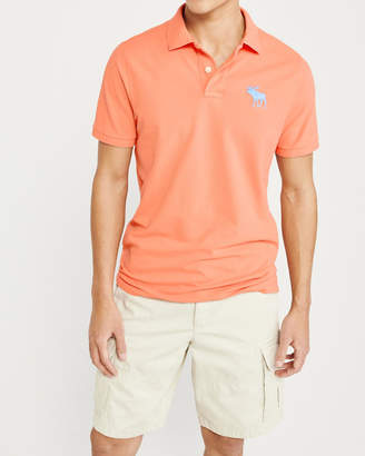 Abercrombie & Fitch Exploded Icon Stretch Polo