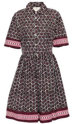Kate Spade Printed Cotton-blend Poplin Shirt Dress