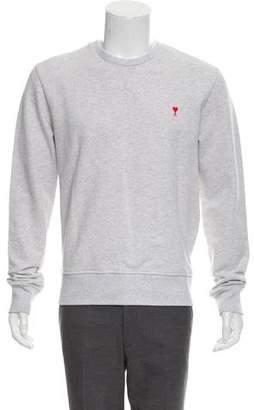 Ami Alexandre Mattiussi Logo-Accented Crew Neck Sweatshirt w/ Tags