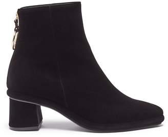 REIKE NEN Ring zip velvet ankle boots