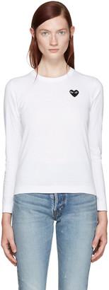 Comme des Garçons Play White Heart Patch T-Shirt $110 thestylecure.com