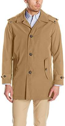 Tommy Hilfiger Men's Hooded Rain Trench Jacket