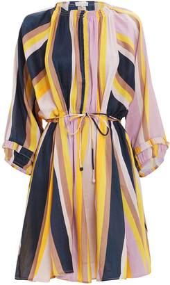 Apiece Apart La Flutte Stripe Mini Dress