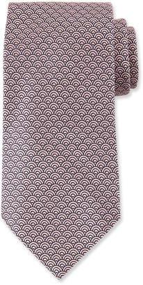 Ermenegildo Zegna Men's Silk Woven Tiles Tie, Pink