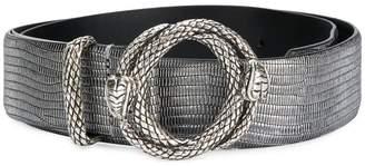 Just Cavalli embossed snake buckle belt