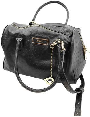 DKNY Black Ostrich Handbags