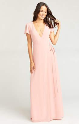 Show Me Your Mumu Noelle Wrap Dress ~ Rosebud Chiffon