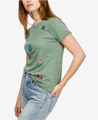 Lucky Brand Cotton Embroidered Cactus T-Shirt