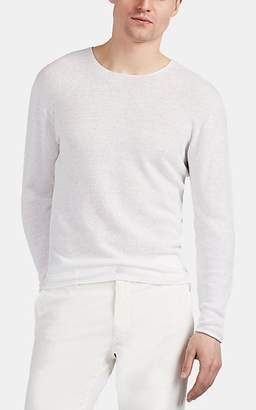 Inis Meáin Men's Linen-Merino-Wool Long-Sleeve Shirt - White