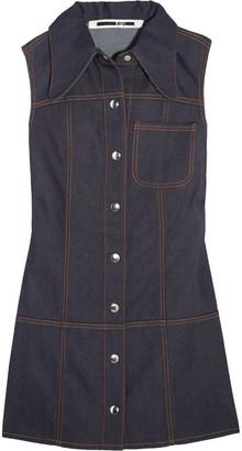 McQ Alexander McQueen - Marianne Denim Mini Dress - Dark denim $395 thestylecure.com