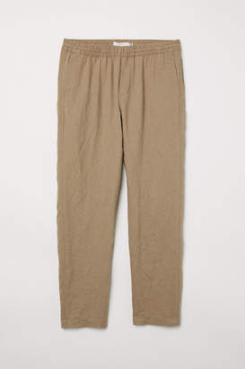 H&M Linen-blend Pants - Beige