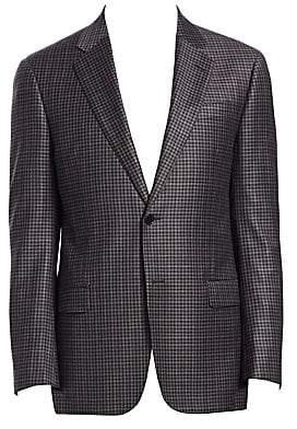 Emporio Armani Men's G-Line Mini Check-Print Wool Suit Jacket