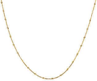 "Vicenza Gold VicenzaGold 20"" Starburst Station Necklace 14K Gold, 1.7g"