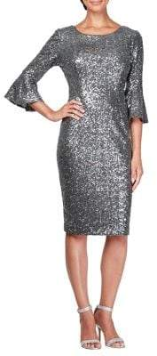 Alex Evenings Sequin Embellished Shift Dress