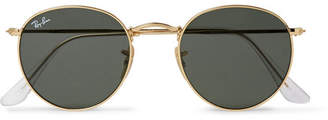 Ray-Ban Round-frame Gold-tone Sunglasses - Gold