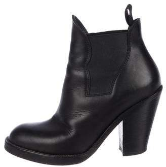 Acne Studios Leather Star Ankle Boots