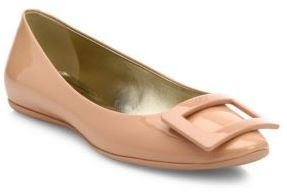 Roger Vivier Gommette Patent Leather Flats $550 thestylecure.com
