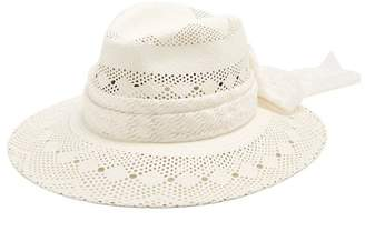 Maison Michel Henrietta Straw Hat - Womens - White