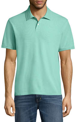 ST. JOHN'S BAY Short Sleeve Solid Performance Pique Polo Shirt